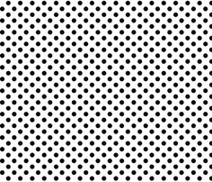 polka dots black and white fabric by misstiina on Spoonflower - custom fabric