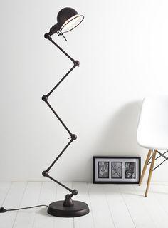 Brown Artie Floor Lamp, £140, bhs H170 x Dia34cm;  steel, plastic; Cable 1.8m, Foot switch