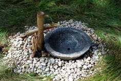small water feature | Water Whimsey - Fountain at Garden in the Woods, Framingham, MA, Aug ...