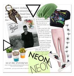 """""""Neon Set"""" by guccichy on Polyvore featuring beauty, Boohoo, Moschino, Burton, Gucci and Hermès"""