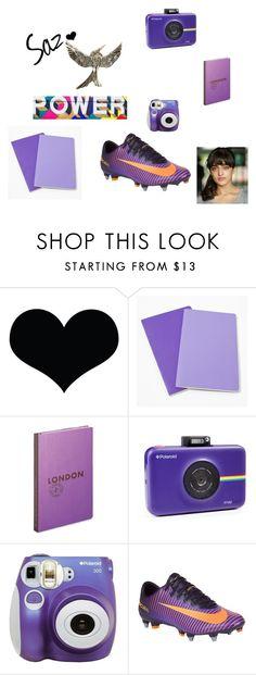 """saz"" by ellen-rose132 on Polyvore featuring Brika, Moleskine, Louis Vuitton, Polaroid, NIKE, purple, somegirls, somegirlsbbc and saz"