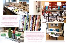 Diane Bergeron's amazing office featured in Ivy & Piper magazine Feb-Mar 2011