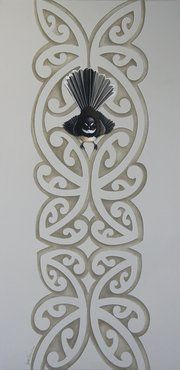 "Jane Crisp this would be a great rule for bathroom"".Paora: Don't put this beautiful Kai Tiaki in a bathroom or a toilet. Nz Art, Art For Art Sake, Arte Tribal, Tribal Art, Maori Patterns, Maori Designs, Tattoo Designs, Flax Weaving, Polynesian Art"