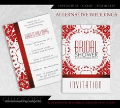 Red White Batik Brid