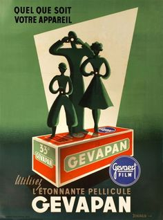 Gevapan 120 film advertising by Denonain (1950)