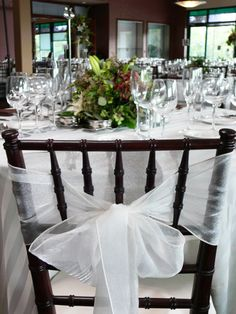 Montage black chairs w/ tulle