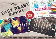 463 Photoshop & Illustrator Aktionen und Styles – Ab 19 Dollar
