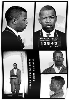 """All talk, no action"" John Lewis was arrested at least 45 times in the fight for Civil Rights. Here are his mugshots. Black History Facts, Us History, Black History Month, Nashville, Hero Poster, Police, Civil Rights Movement, African American History, Sheriff"