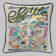 hand-embroidered homage to Seattle in the shape of a coffee cup. Love!