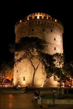 White Tower at Thessaloniki town Macedonia Ancient Ruins, Ancient Greece, Macedonia Greece, Greek Art, Acropolis, Thessaloniki, Beautiful Places In The World, Imagines, Photography Photos
