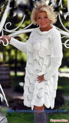 вязание | Natalya Dmitrieva | Простые схемы. Экономим время на Постиле | Постила Knitted Poncho, Crochet Cardigan, Knit Dress, Knit Crochet, Knitting Stitches, Hand Knitting, Knitting Patterns, Knitting Needles, Kleidung Design