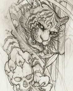 I sincerely adore the tints, lines, and depth. This is definitely a terrific tattoo design if you are looking for a Japan Tattoo Design, Tiger Tattoo Design, Tattoo Design Drawings, Tattoo Sketches, Tiger Tattoo Sleeve, Lion Tattoo, Sleeve Tattoos, Tattoo Ink, Japanese Tiger Tattoo
