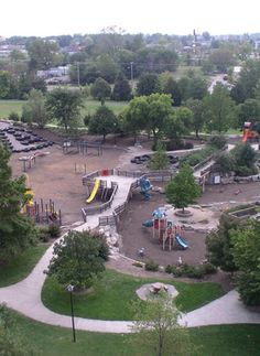 Cosmo Park - They have a small area for toddlers and then a very large park for older kids with fun, tall tube slides. A great place for a picnic or just to burn off energy!