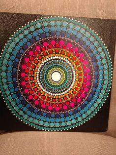 Dot Art Painting, Mandala Painting, Stone Painting, Mandala Painted Rocks, Mandala Rocks, Pottery Painting Designs, Mandala Art Lesson, Mandala Canvas, Mandalas Drawing