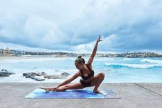 @kathryn_grace_nocerino on our Maroubra Beach yoga mat 🌴☀️ 🐬  Shop our full collection ↠ www.yogaeverywhere.com.au