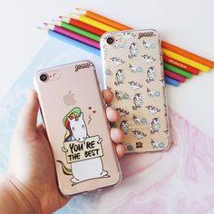 Duas formas de deixar seu #iphone7 super fofinho! {cases: the best e fabulosos unicórnios} [FRETE GRÁTIS A PARTIR DE DUAS GOCASES] #gocasebr #instagood #iphonecase #unicorn #dessamore #thebest #fabulous #usogocase
