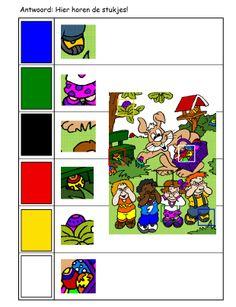 *  Antwoord: Waar horen de stukjes? 2-2 Puzzles, Education, Cards, Communication Boards, Manualidades, Puzzle, Maps, Onderwijs, Learning
