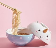 A unicorn ramen set, because when ramen is all either of you can afford you wanna make theirs a little more magical. 31 Gifts For Friends Who Are Basically Family Best Candles, White Candles, 31 Gifts, Cool Gifts, Bag Of Cheetos, Amazon Flowers, Toddler Plates, Lisa Frank Stickers, Eid Party