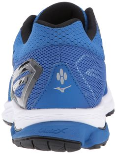d6d0ab785ee51 Mizuno Mens Wave Rider 21 Running Shoe Classic Blue Black 14 D US