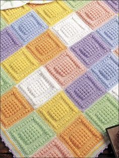 Bubble Squares - I like this baby afghan really different