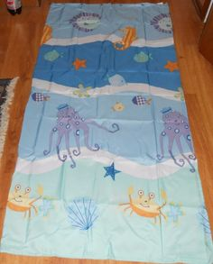 Kids Line Under the Sea Shower Curtain and 12 hooks Bath #KidsLine
