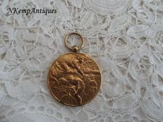 Old cycling medal/pendant 1920's for the by Nkempantiques on Etsy