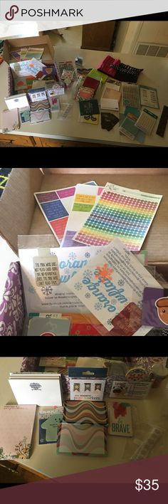 Planner Supplies New to planning? Need some supplies? Random box of sticky notes, a few stickers, 2 rolls of washi tape, a planner pouch, sticky notes and so much more in this wonderful starter planner box. 📒🖊 Erin Condren Other