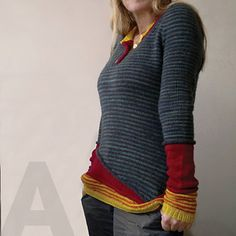 I love this sweater!  2014 project. It might be a little ambitious for my knitting skills...but I am going to try it anyway (in different colors)