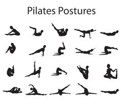 A chart of Pilates postures.
