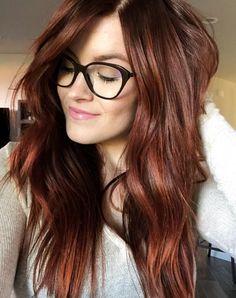Cinnamon Hair Hair Cinnamon Hair Color of the Best Cinnamon Hairstyles Hair Color Highlights, Red Hair Color, Brown Hair Colors, Cool Hair Color, Dark Auburn Hair Color, Auburn Red Hair, Auburn Hair Balayage, Chocolate Auburn Hair, Dark Red Brown Hair