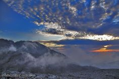 Worderful sunset (Dikti mountain)