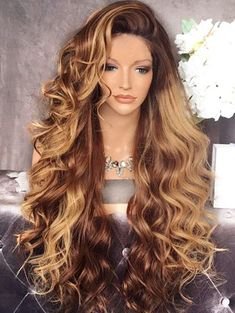 Rosewholesale welcomes customers worldwide, offering them best customer service and large collection of high quality products at cheap price. Blonde Wig, Blonde Balayage, Blonde Highlights, Pretty Hairstyles, Wig Hairstyles, Straight Hairstyles, Mousy Brown Hair, Balayage Straight Hair, Long Wigs