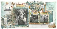 The Whimsical Life Collection is a celebration of simple, carefree moments. With soft colour palette, cute daisy's & butterflies you can create a project Photo Layouts, Page Layout, Scrapbook Pages, Scrapbooking Layouts, Glenda, Soft Colors, Whimsical, Daisy, Gallery Wall