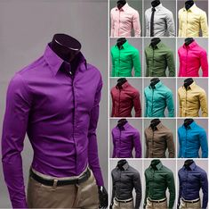 Mens Business Casual Shirts in Multiple colors. Buy and save instantly. No Coupon Codes Required. Material : Cotton Blend / Polyester Size : XS, S, M Color : Black, White, Beige, Brown, Light Green, Green, Navy Blue, Yellow, Purple, Light Pink, Wine, Light Blue XS Shoulder : 42 cm / 16 inch Length : 69 cm / 27 inch Chest : 96 cm / 37 inch Sleeve : 61 cm / 24 inch S Shoulder : 44 cm / 17 inch Length : 71 cm / 28 inch Chest : 100 cm / 39 inch Sleeve : 62 cm / 24 inch M Shoulder : 47 cm / 18…
