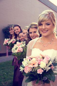 Bride and bridesmaids photo  Sara Faith Photography