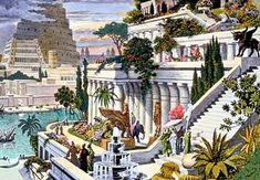 jardines babilonicos | Una pintura del siglo XVI de los Jardines Colgantes de Babilonia (por ...