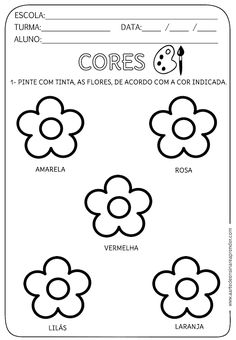 Atividade pronta - Cores Tracing Worksheets, Preschool Worksheets, Busy Book, Home Schooling, Writing Prompts, Family Life, Homeschool, Teaching, Activities