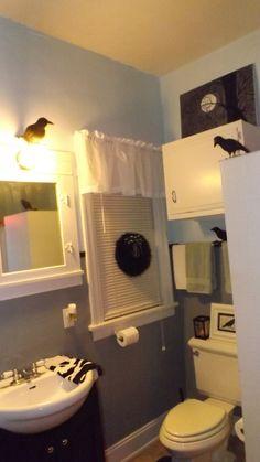 Halloween Bathroom. If I could choose, I would change the light a little bit darker :)