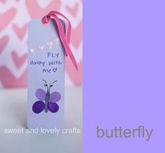 sweet and lovely crafts: thumbprint bookmarks