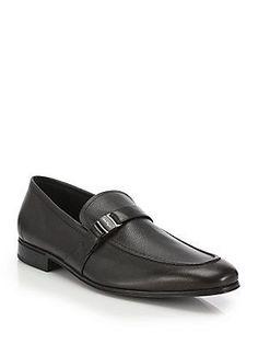 Salvatore Ferragamo Pinot Leather Loafers