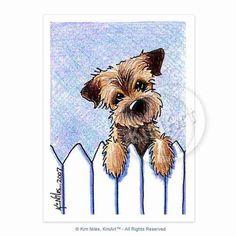 Border Terrier Signed KiniArt Dog Art PRINT by KiniArt on Etsy https://www.etsy.com/listing/215846279/border-terrier-signed-kiniart-dog-art