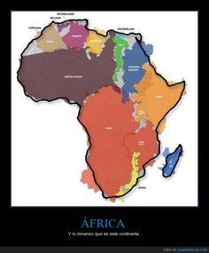 ÁFRICA - Y lo inmenso que es este continente   Gracias a http://www.cuantarazon.com/   Si quieres leer la noticia completa visita: http://www.estoy-aburrido.com/africa-y-lo-inmenso-que-es-este-continente/