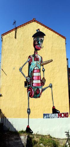 Pixel Pancho #arteurbana #streetart #arteurbana #art #street #artederua