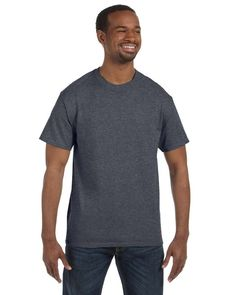 Hanes - 6 oz. Tagless T-Shirt >> XL,CHARCOAL HEATHER. Fabric Content-100% Cotton. Moisture Management/Wicking-Yes. Logo-No. Pigment/Special Dye Process-No. Weight-Heavyweight(5.7 - 6.4).