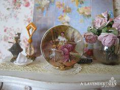 Danse de Chérubin Dollhouse Miniature Plate by ALavenderDilly