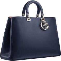 DIORISSIMO ❤ liked on Polyvore featuring bags, handbags, dior, blue purse, blue handbags and blue bag