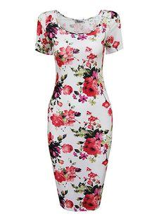 Tom's Ware Women's Sweetheart Short Sleeve Midi Dress at Amazon Women's Clothing store: