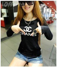 new women's logo Long sleeve T-shirt tops http://tinyurl.com/ngzy4ue #womenfashion #top #tshirt #fashiontshirt