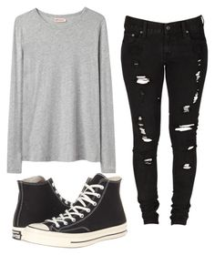 """Morning"" by coffeeismysoul ❤ liked on Polyvore featuring Organic by John Patrick, Levi's and Converse"