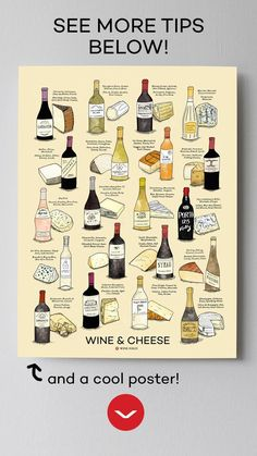 Pair funky cheeses (like Roquefort!) with sweeter wines (try a late harvest Riesling! Then, for bolder red wines, go for dry, aged cheeses. Find out more (or get the poster) in the link! Wine And Cheese Party, Wine Cheese, Wine Party Appetizers, Riesling Wine, Beer Tasting Parties, Wine Parties, Sweet White Wine, Wine Folly, Wine Guide